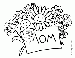 flowers for mother u0027s day holiday coloring page for kids coloring