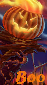 pumpkin scarecrow 2014 halloween boo iphone 6 plus wallpapers