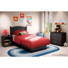 Black Childrens Bedroom Furniture South Shore Libra 3 Piece Pure Black Twin Kids Bedroom Set 3070223