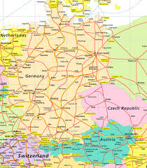Map Germany by Map Of Germany And Austria Black