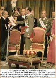 Juramento de Juan Carlos de los Principios del Movimiento Nacional