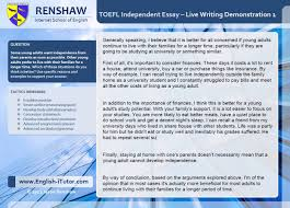this i believe essay samples toefl independent writing task live essay demonstration 1 youtube