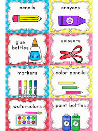 free labels for classroom supplies getting ready for back to