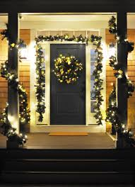 Decorative Garlands Home by Christmas House Decorations Outdoor
