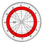 Le cercle trigonométrique.