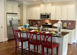Red White And Black Kitchen Ideas Interior Attractive Wall Mounted Red Wooden Cabinet And Black
