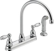 delta faucet 21988lf two handle kitchen faucet with spray chrome