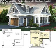 plan 14653rk carriage house plan with man cave potential