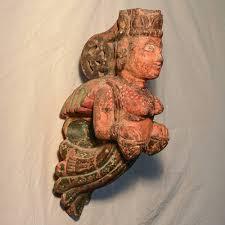 wooden handicrafts wooden wall hanging pari with tabla sculpture