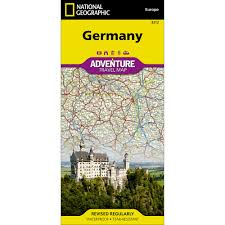 Map Germany by Germany Adventure Map National Geographic Store