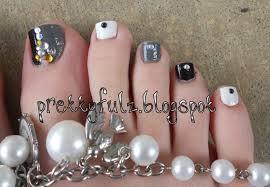 prettyfulz pedicure nail art designs black u0026 white pedicure