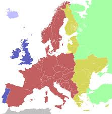 Time Zone Map United States by Central European Time Wikipedia