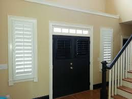Transom Window Above Door Shutters Wood White Black Door Entry Jpg