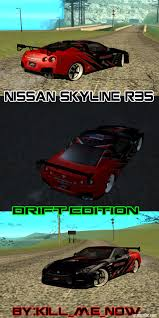 nissan skyline drift car gta san andreas nissan skyline r35 drift tune mod gtainside com