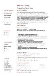Resume For Nanny Job by Download Production Supervisor Resume Haadyaooverbayresort Com