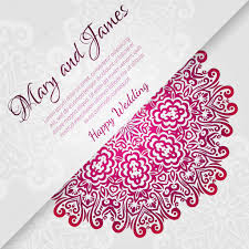 Baby Shower Invitation Cards Templates Lacy Vector Wedding Card Template Abstract Circle Floral Ornament