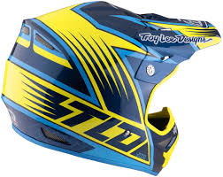 troy lee designs motocross helmet troy lee designs air vengeance yellow blue motocross helmets troy