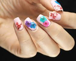 dried flowers nail design real dry flower nail art ideas