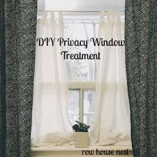 simple bedroom privacy window treatment