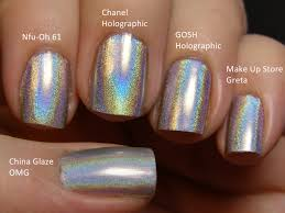 holographic nail polish different brands same look my style