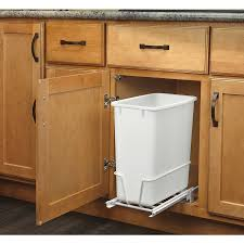 Kitchen Cabinets With Pull Out Shelves by Shop Pull Out Trash Cans At Lowes Com