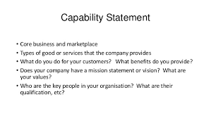 Tender writing guide presentation SlideShare Capability Statement