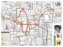 Map Of Iowa State by Iowa Snowmobile Trails
