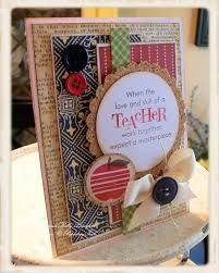 Handmade Farewell Invitation Cards Teacher U0027s Apple Love The Layers Handmade Card Handmade Cards