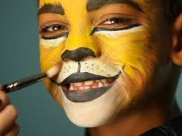 kid u0027s halloween makeup tutorial lion hgtv