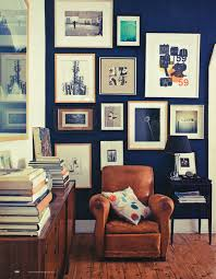 Home Gallery Design Ideas Dark Royal Blue Wall Collection Of Pictures On Wall Leather