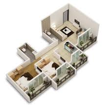 Plans Design by 25 Two Bedroom House Apartment Floor Plans