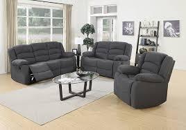 Grey Sofa And Loveseat Set Amazon Com Us Pride Furniture 3 Piece Grey Fabric Reclining Sofa