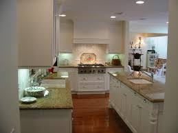 french country cottage kitchen l shaped white finish wooden