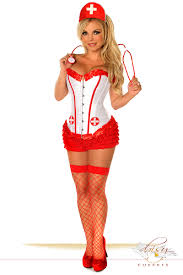4 pc nurse costume trans genn