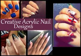 creative u0026 beautiful acrylic nail designs diy home remedies