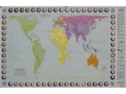 Peters Projection World Map by