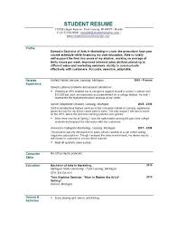 Resume For College Student Sample by Resume Abroad No Experience Sales No Experience Lewesmrsample