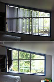 angled top vertical blinds are a very economical and practical way