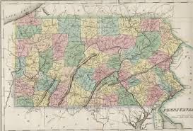 Oldest Map Of North America by 1820 U0027s Pennsylvania Maps
