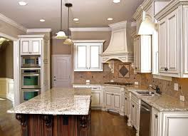 kitchen antique white kitchen cabinets with black granite