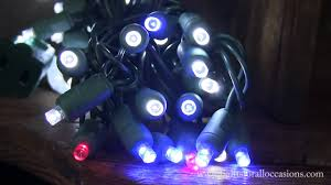 Blue Led String Lights by Led String Lights Cool White Wide Angle Bulbs Red And Blue