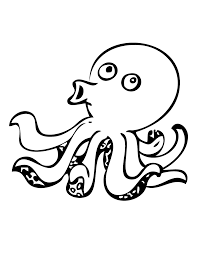 simple octopus coloring pages for kids coloringstar