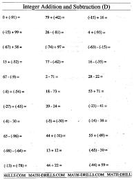 Addition Worksheets Pdf Uncategorized Add And Subtract Integers Worksheet