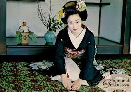 Mineko Iwasaki as a young geisha in the 1960s
