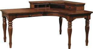 desk corner l shaped office desk with hutch black and cherry by