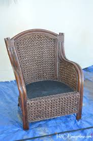 Painting Wicker Patio Furniture - how to paint wicker furniture quickly and easily h20bungalow