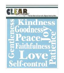 clear scraps stencils fruit of the spirit joann