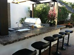 kitchen modern outdoor kitchens with stone countertop stainless