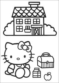 hello kitty lunch break coloring pages coloring pages