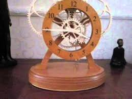 battery operated electromechanical wooden gear clock wmv youtube